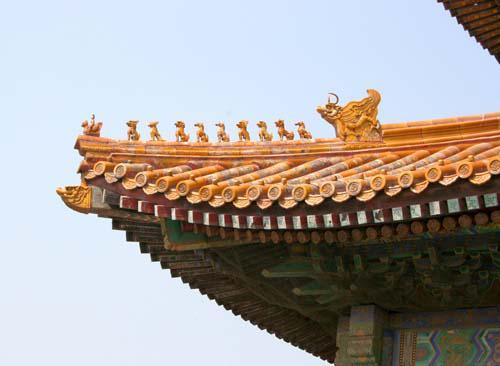 古代建筑物的屋瓦设计