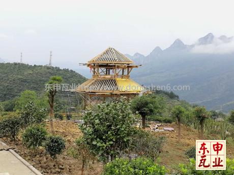 承接贵州牂牁江风景名胜区景观亭仿古铝瓦项目